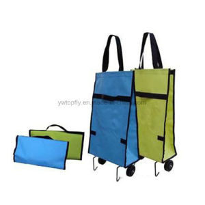 Foldable Shopping Trolley Wheel Lightweight Flat Grocery Luggage Bag pictures & photos