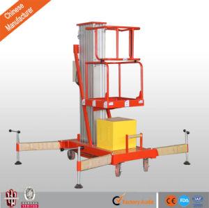 Portable Single Mast Quality Electric Aluminum Alloy Lift Platform pictures & photos