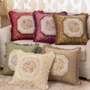 European Classic Puff Jacquard Decorative Pillow Cover Cushion (DPF107139) pictures & photos