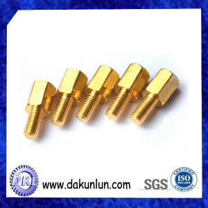 China Custom Hex Brass Bolt with Thread pictures & photos