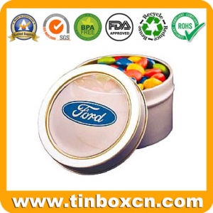 Cylindrical Chocolate Tins with Handle for Metal Gift Tin Boxes pictures & photos