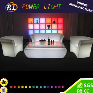 Modern LED Glow Leisure Patio Home Villa Furniture LED Bar Sofa Chair pictures & photos