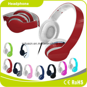 Red Colorful Customized Logo Perfect Sound Effect Music Headphone pictures & photos