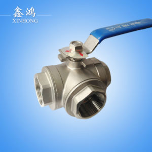 Stainless Steel 304 Three-Way Ball Valve Dn15 pictures & photos