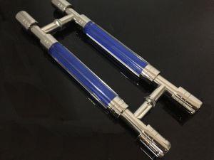 Stainless Steel + Crystal Acrylic Door Handle Glass Door Hinge pictures & photos