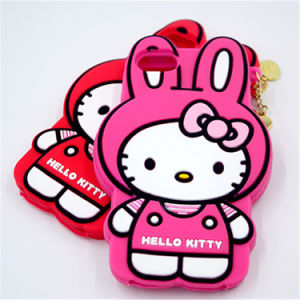 Hello Kitty Cat Shape Cute 3D Silicon Phone Case pictures & photos
