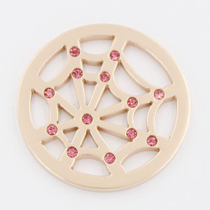 Web Coin with Stones Fit with Locket Pendant Fashion Jewelry pictures & photos