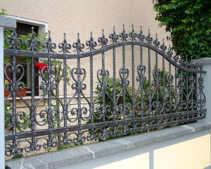 Decorative Vintage Steel Wrought Iron Fence Metal Steel Fence