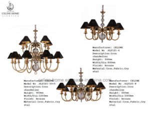 Leather Shade Crystal Lamp (SL2121-6) pictures & photos