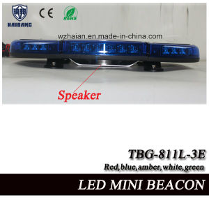 Blue LED Beacon Light Built-in Siren and Speaker for Police Cars in SMD LEDs (TBG-811L-3ES) pictures & photos
