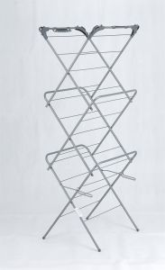 3tier Airer Clothes Rack Clothes Hanger with Wheels pictures & photos