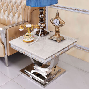 Modern Appearance Corner Table Side Table with Metal Frame pictures & photos
