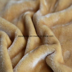 Flannel Fleece in Plain Dyed for Blanket pictures & photos