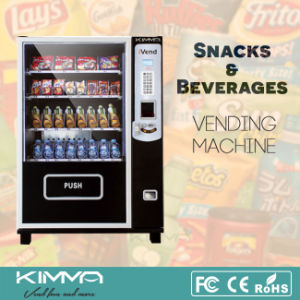 Small Size Beverage and Candy Bar Vending Machine with Coin Acceptor pictures & photos