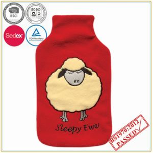 Cute Sheep Head Fleece Hot Water Bottle Cover pictures & photos