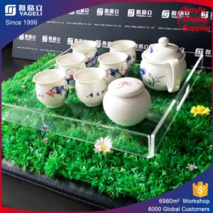 Direct Sale Acrylic Serving Tray Gongfu Tea Plexiglass Tray pictures & photos