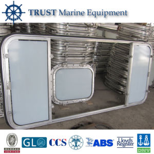 Marine Double Leaf Sliding Aluminum Window with Certificates pictures & photos