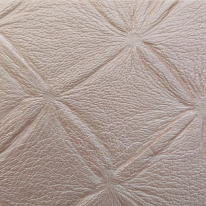 Flower Pattern Embossed PU Synthetic Leather for Decortation (HS-M343) pictures & photos