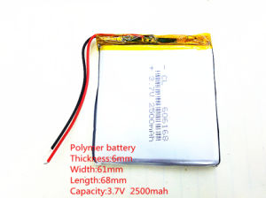 3.7V, 2500mAh, 606168 Li-ion Battery for Model Toy Mobile Bluetooth pictures & photos