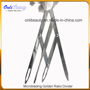 Golden Raito Mean Caliper for Microblading Eyebrow Design OEM Service pictures & photos