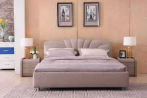 Modern Home Furniture Upholstered Bed (9557) pictures & photos