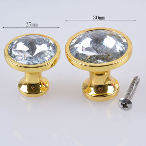 Door Cabinet Knob 25mm 30mm Diamond Shape Crystal Glass Cupboard Drawer Handle pictures & photos