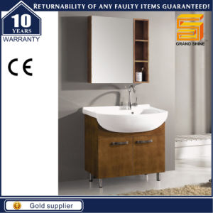 Hot Selling Veneer Floor Mounted Bathroom Cabinet pictures & photos