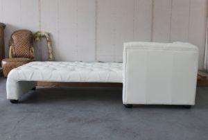 Genuine Leather Chaise Longue, Italian Leather Chaise Longue, White Leather Chaise Longueyh-219 pictures & photos