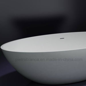 Wholesale Artificial Stone Corian Solid Surface Freestanding Bathtub (PB1057G) pictures & photos