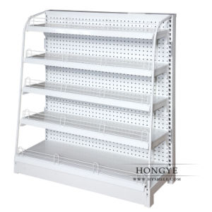 Single Side Supermarket Display Rack with Perforated Back Panel (OW-A15) pictures & photos
