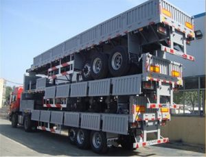 40FT Low Bed Container Semi Trailer / Flat Bed Semi Trailer for Sale to Africa pictures & photos