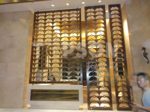 Laser Cut Chinese Design Stainless Steel Metal Room Dividers Screens Partition pictures & photos