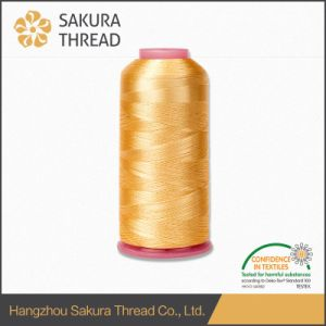 Oeko-Tex 100 1 Class Mercerized Viscose Embroidery Thread with High Tenacity pictures & photos