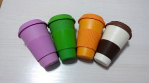 BPA Free Eco Bamboo Fiber Coffee Cup/Coffee Mug (YK-C10121) pictures & photos