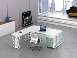 White Customized Metal Steel Office Executive Desk Frame with Ht66-2 pictures & photos
