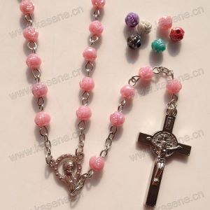 Fashion Colourful Rose Beads Religious Necklace, Catholic Rosary pictures & photos