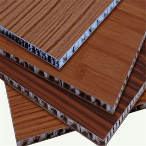 Wooden Pattern Aluminium Honeycomb Panel for Wall (HR71) pictures & photos