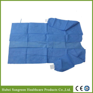 Disposable SMS Blue Surgical Gown, Medical Gown Wit Eo Sterilization pictures & photos