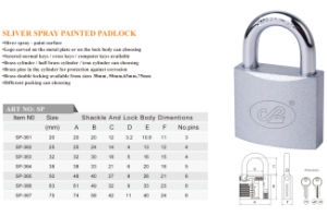 Philip Type Sliver Spray Painted Padlock Mexico Market Popular pictures & photos