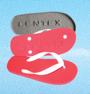 Two Layer Sole Flip Flop with Die-Cut Logo