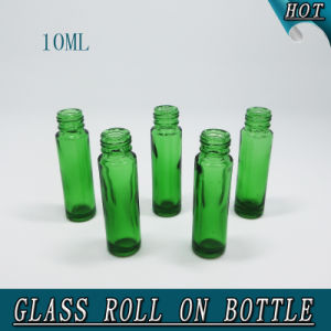 10ml Column Green Essential Oil Roll on Glass Bottle pictures & photos