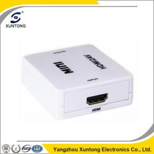 1080P HDMI to AV Adapter Mini HDMI to Cvbs/AV Converter pictures & photos