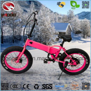 250W Fat Tire Foldable Beach Motorcycle for Girl pictures & photos