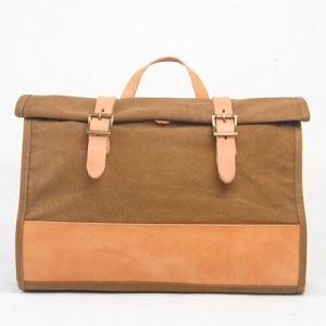 Color-Collsion Vintage Leather Washed Canvas Handbag Men Messenger Bag Ga13 pictures & photos