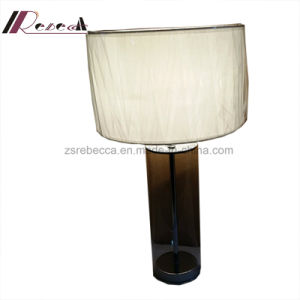 Modern Fabric Shade Glass Table Lamp for Living Room pictures & photos
