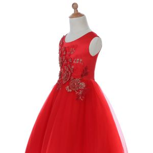 Curve Neck Flower Girl Dress for Wedding and Ceremonial pictures & photos