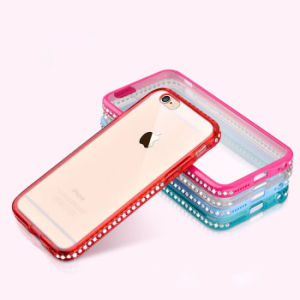Fashion Diamond Border Anti Fall Phone Case for iPhone 6/6s/6 Plus pictures & photos