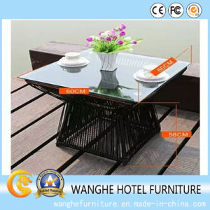 Hotel Furniture Outdoor Garden Rattan Wicker Bar Table Set pictures & photos