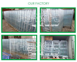Big Quantity Foldable Metal Roll Cage Container with Best Wheels pictures & photos
