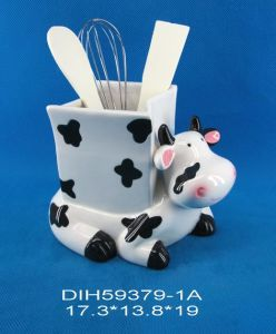 Ceramic Cow Utensil Holder for Home/Kitchen Decoration pictures & photos